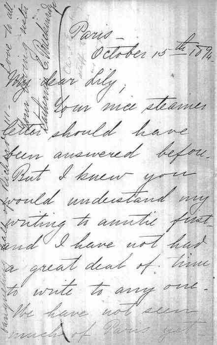 October 1894 Letter