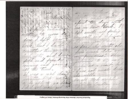 "Letter to ""friend"" from KCB dated October 16th 1894 from Paris 1"