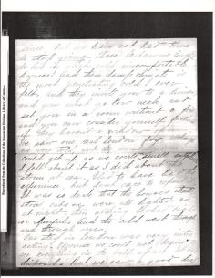 "Letter to ""friend"" from KCB dated October 16th 1894 from Paris 2"